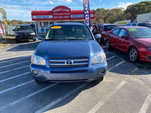2006 Toyota Highlander Hybrid for sale at Sandy Lane Auto Sales and Repair in Warwick RI