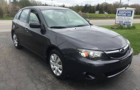 2010 Subaru Impreza for sale at SIMPSON MOTORS in Youngstown OH