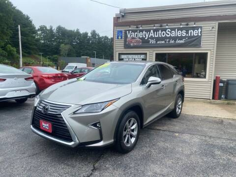 2019 Lexus RX 350 for sale at Variety Auto Sales in Worcester MA