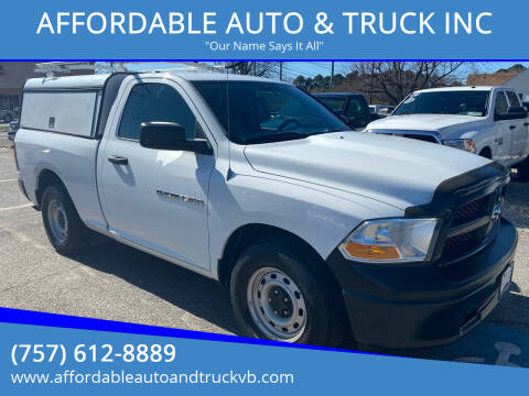 2012 RAM Ram Pickup 1500 for sale at AFFORDABLE AUTO & TRUCK INC in Virginia Beach VA