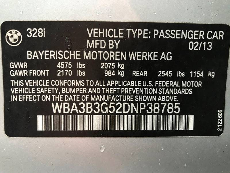 2013 BMW 3 Series 328i xDrive AWD 4dr Sedan SA - Newark NJ