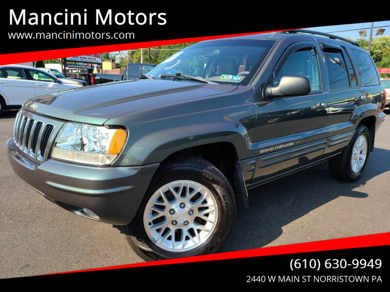 2002 Jeep Grand Cherokee for sale at Mancini Motors in Norristown PA