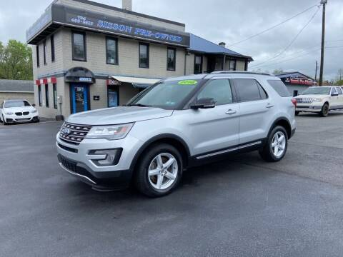 2016 Ford Explorer for sale at Sisson Pre-Owned in Uniontown PA