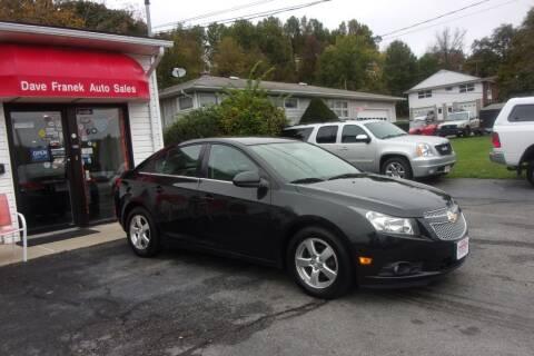 2012 Chevrolet Cruze for sale at Dave Franek Automotive in Wantage NJ