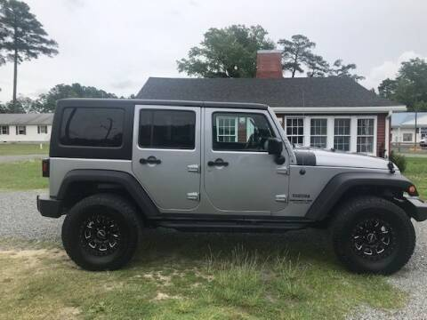2014 Jeep Wrangler Unlimited for sale at J Wilgus Cars in Selbyville DE