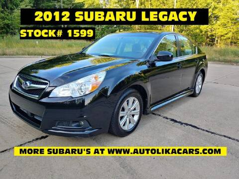 2012 Subaru Legacy for sale at Autolika Cars LLC in North Royalton OH