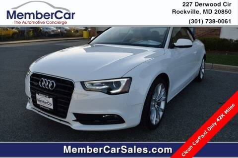 2013 Audi A5 for sale at MemberCar in Rockville MD