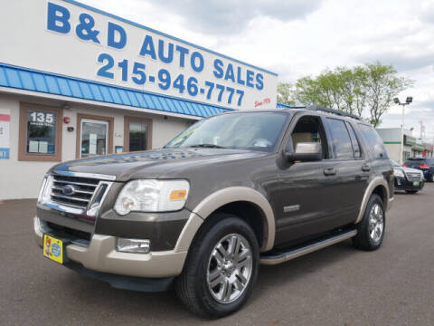 2008 Ford Explorer for sale at B & D Auto Sales Inc. in Fairless Hills PA