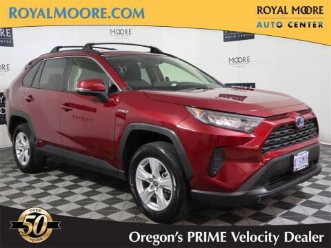 2020 Toyota RAV4 Hybrid for sale at Royal Moore Custom Finance in Hillsboro OR
