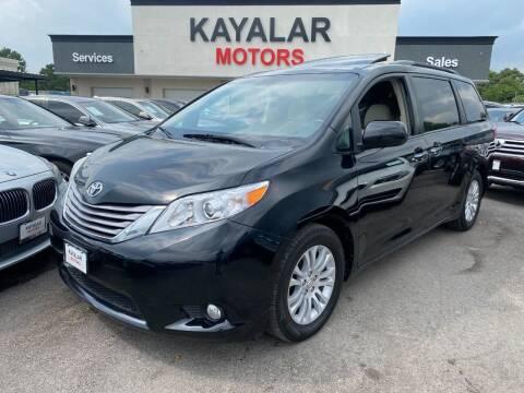 2017 Toyota Sienna for sale at KAYALAR MOTORS in Houston TX