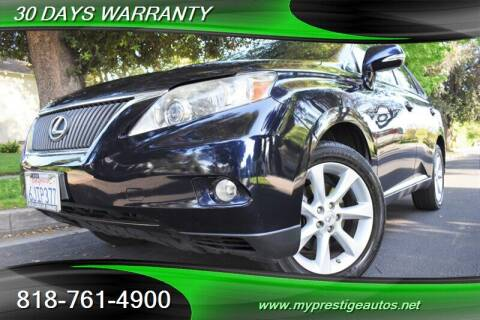 2010 Lexus RX 350 for sale at Prestige Auto Sports Inc in North Hollywood CA