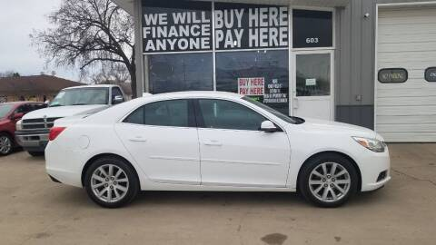 2014 Chevrolet Malibu for sale at STERLING MOTORS in Watertown SD