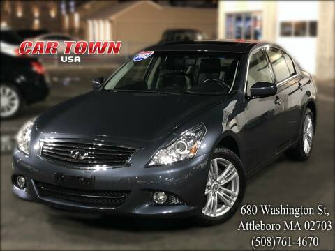 2012 Infiniti G25 Sedan for sale at Car Town USA in Attleboro MA