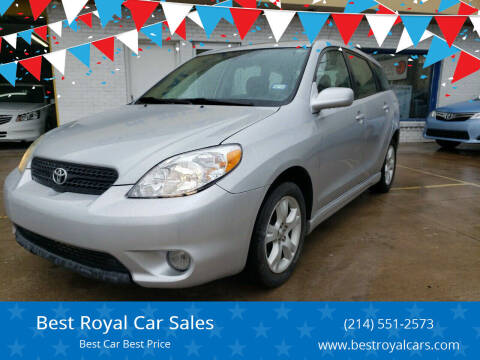 2005 Toyota Matrix for sale at Best Royal Car Sales in Dallas TX