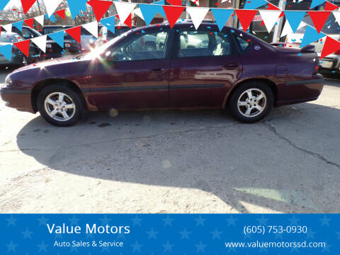 2003 Chevrolet Impala for sale at Value Motors in Watertown SD