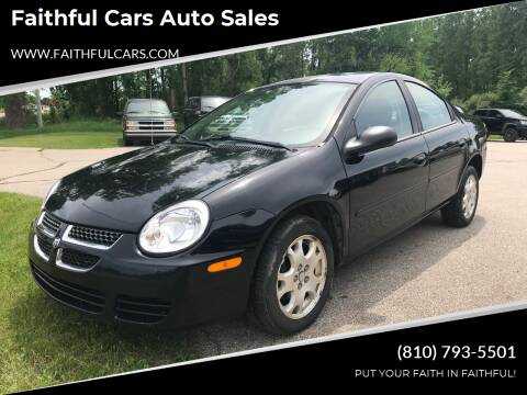 2004 Dodge Neon for sale at Faithful Cars Auto Sales in North Branch MI