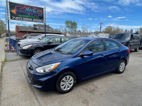 2015 Hyundai Accent for sale at AWD Denver Automotive LLC in Englewood CO