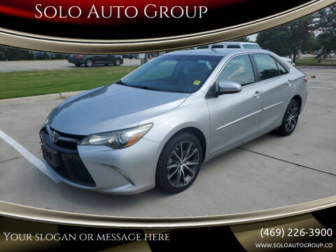 2016 Toyota Camry for sale at Solo Auto Group in Mckinney TX