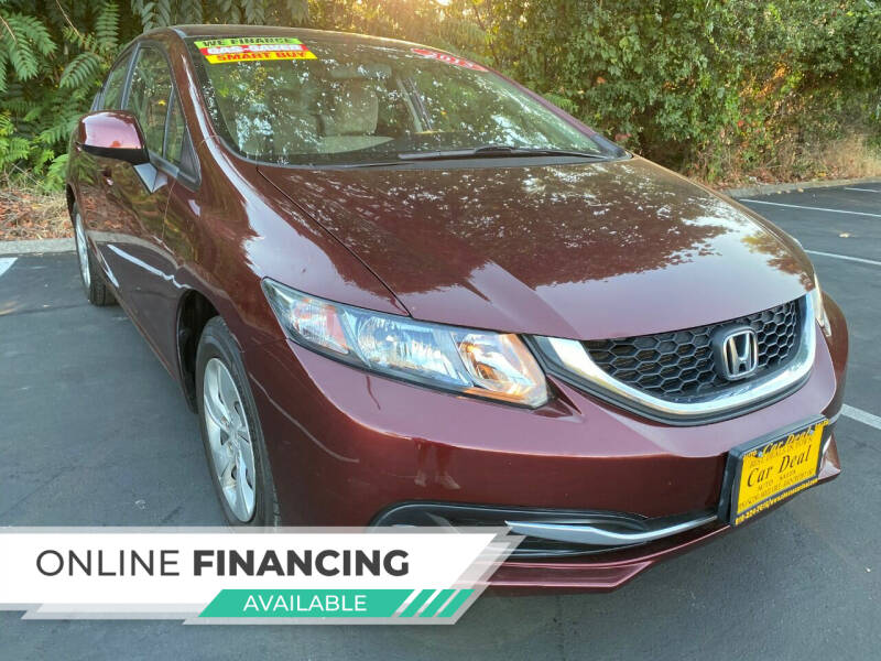 2013 Honda Civic for sale at Car Deal Auto Sales in Sacramento CA