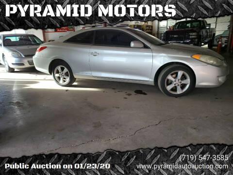 2004 Toyota Camry Solara for sale at PYRAMID MOTORS - Pueblo Lot in Pueblo CO