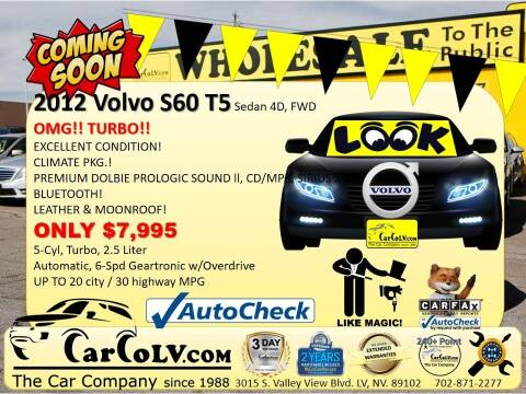 2012 Volvo S60 for sale at The Car Company in Las Vegas NV