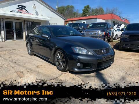 2008 Lexus IS F for sale at SR Motors Inc in Gainesville GA