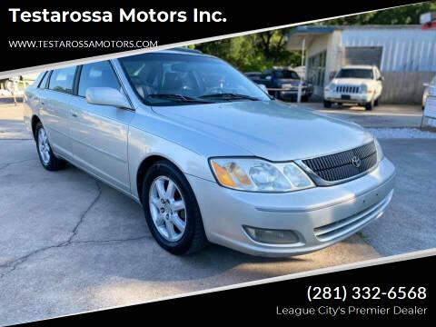 2000 Toyota Avalon for sale at Testarossa Motors Inc. in League City TX