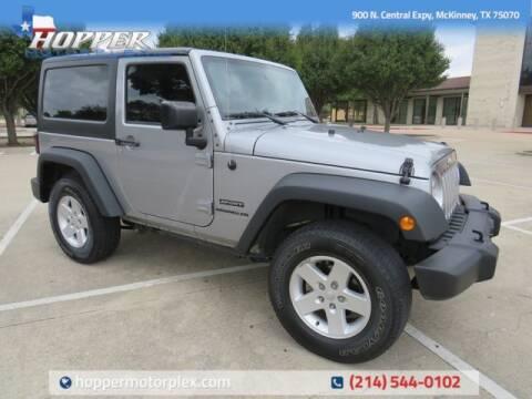 2017 Jeep Wrangler for sale at HOPPER MOTORPLEX in Mckinney TX
