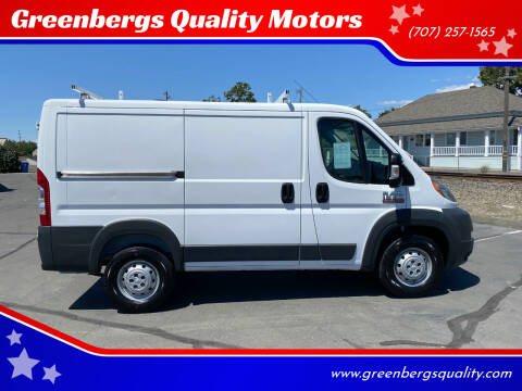 2015 RAM ProMaster Cargo for sale at Greenbergs Quality Motors in Napa CA