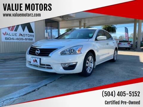2015 Nissan Altima for sale at VALUE MOTORS in Kenner LA