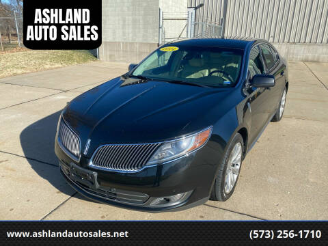 2014 Lincoln MKS for sale at ASHLAND AUTO SALES in Columbia MO