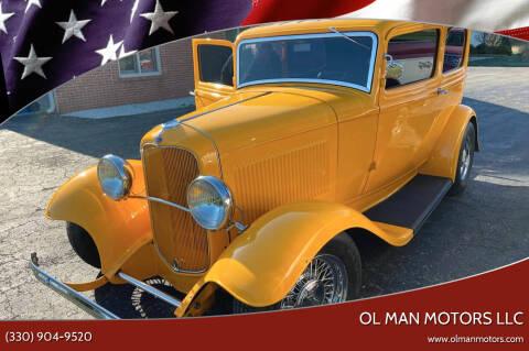 1932 Ford 2 DOOR SEDAN for sale at Ol Man Motors LLC in Louisville OH