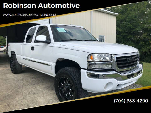 2003 GMC Sierra 1500 for sale at Robinson Automotive in Albemarle NC