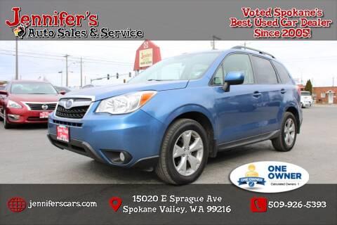 2015 Subaru Forester for sale at Jennifer's Auto Sales in Spokane Valley WA