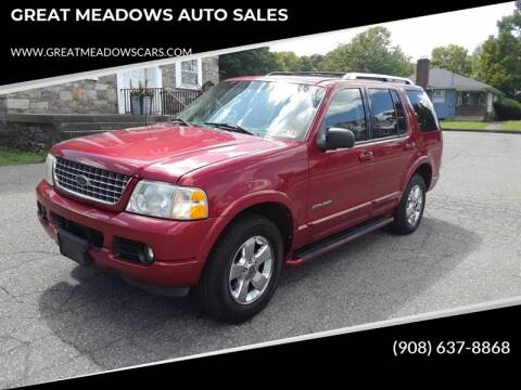 2004 Ford Explorer for sale at GREAT MEADOWS AUTO SALES in Great Meadows NJ