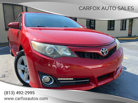 2013 Toyota Camry for sale at Carfox Auto Sales in Tampa FL
