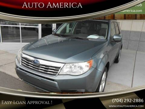 2009 Subaru Forester for sale at Auto America in Charlotte NC