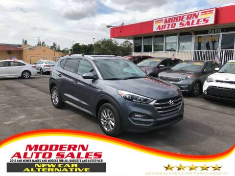 2017 Hyundai Tucson for sale at Modern Auto Sales in Hollywood FL