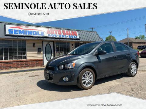 2016 Chevrolet Sonic for sale at Seminole Auto Sales in Seminole OK