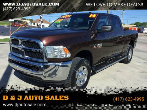 2014 RAM Ram Pickup 2500 for sale at D & J AUTO SALES in Joplin MO