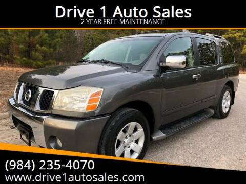 2004 Nissan Armada for sale at Drive 1 Auto Sales in Wake Forest NC