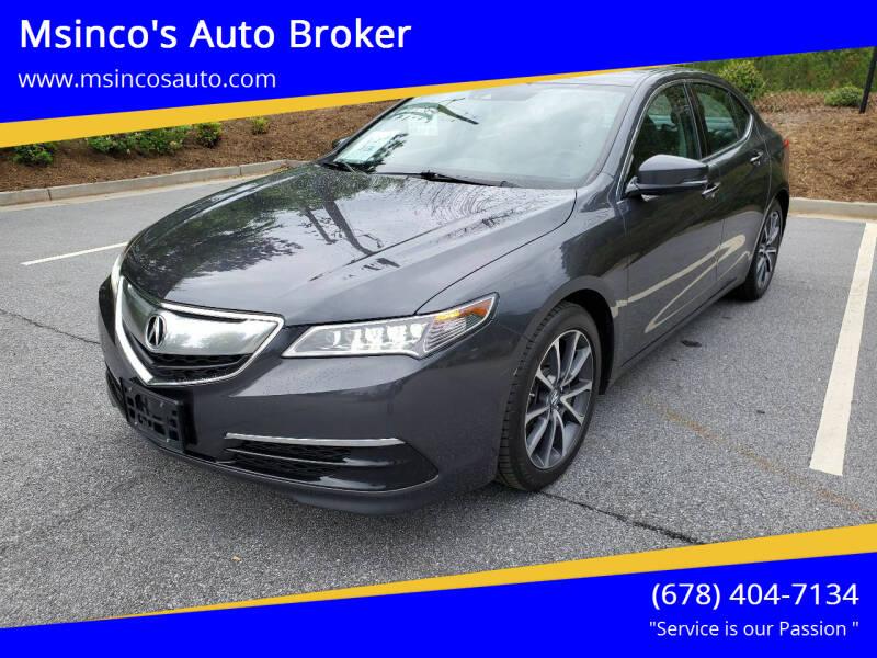 2016 Acura TLX for sale at Msinco's Auto Broker in Snellville GA
