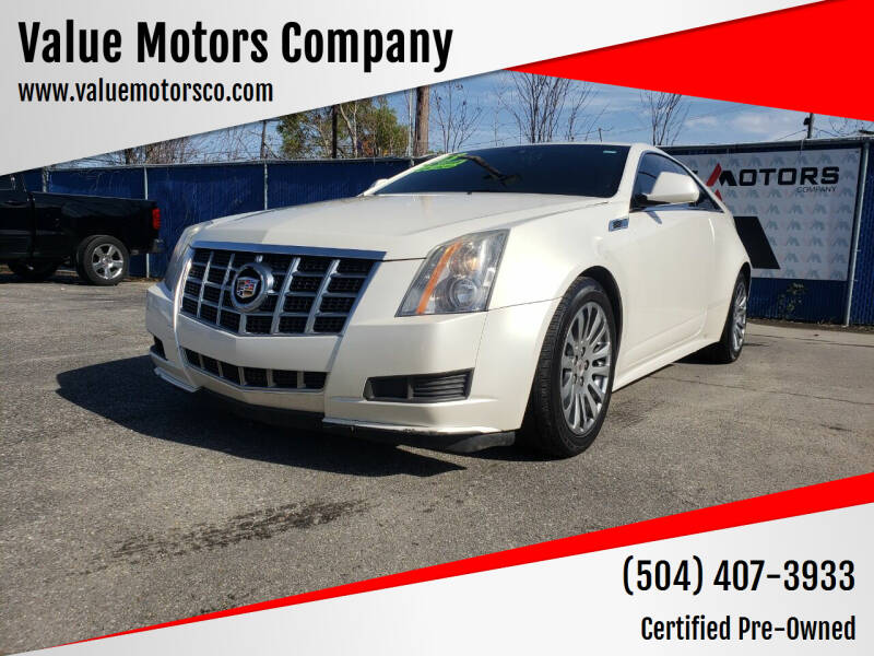 2013 Cadillac CTS for sale at Value Motors Company in Marrero LA