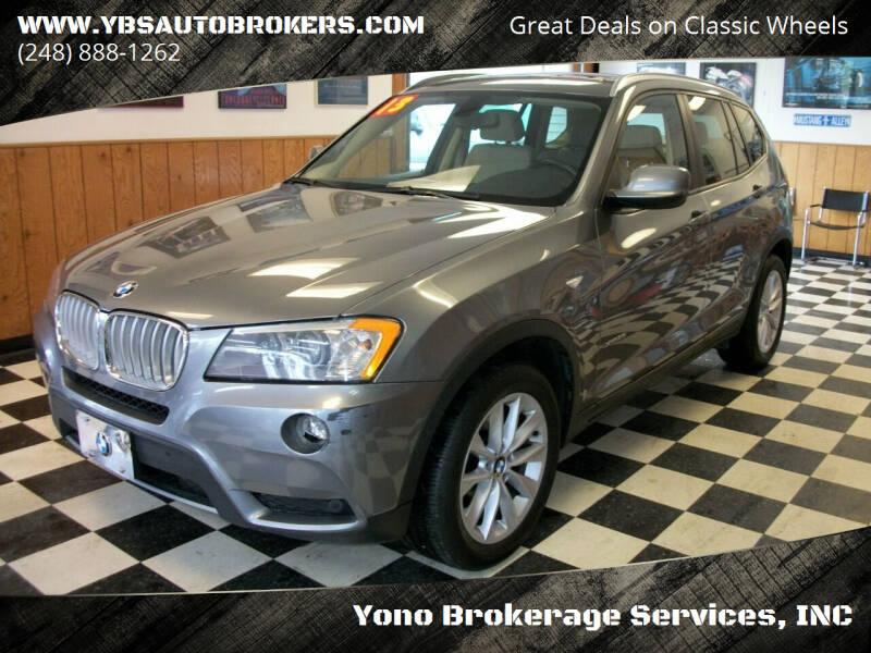 2013 BMW X3 for sale at Yono Brokerage Services, INC in Farmington MI