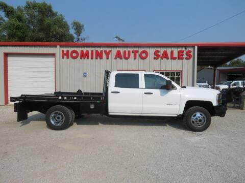 2015 Chevrolet Silverado 3500HD CC for sale at HOMINY AUTO SALES in Hominy OK