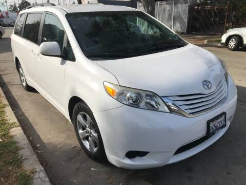 2015 Toyota Sienna for sale at Autobahn Auto Sales in Los Angeles CA