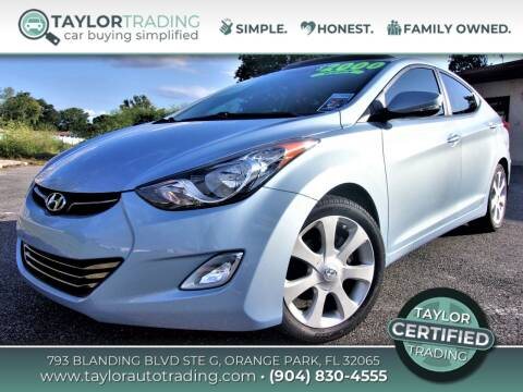 2012 Hyundai Elantra for sale at Taylor Trading in Orange Park FL