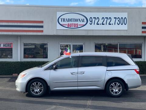 2012 Honda Odyssey for sale at Traditional Autos in Dallas TX