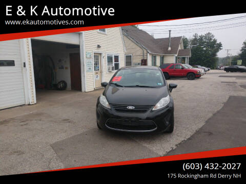 2011 Ford Fiesta for sale at E & K Automotive in Derry NH