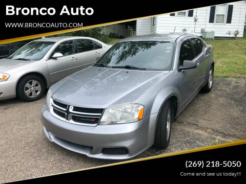 2013 Dodge Avenger for sale at Bronco Auto in Kalamazoo MI